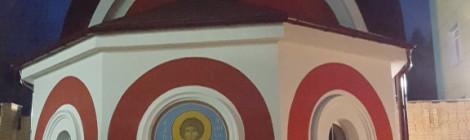 27 сентября 2017 года. Начинаются работы по росписи храма