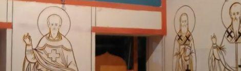 29 января 2018 года. В Храме св. вмч. Пантелеимона продолжается роспись алтаря