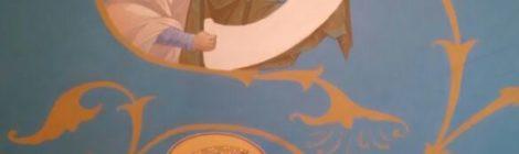Работы по росписи стен Храма св. вмч. Пантелеимона вступают в завершающую стадию